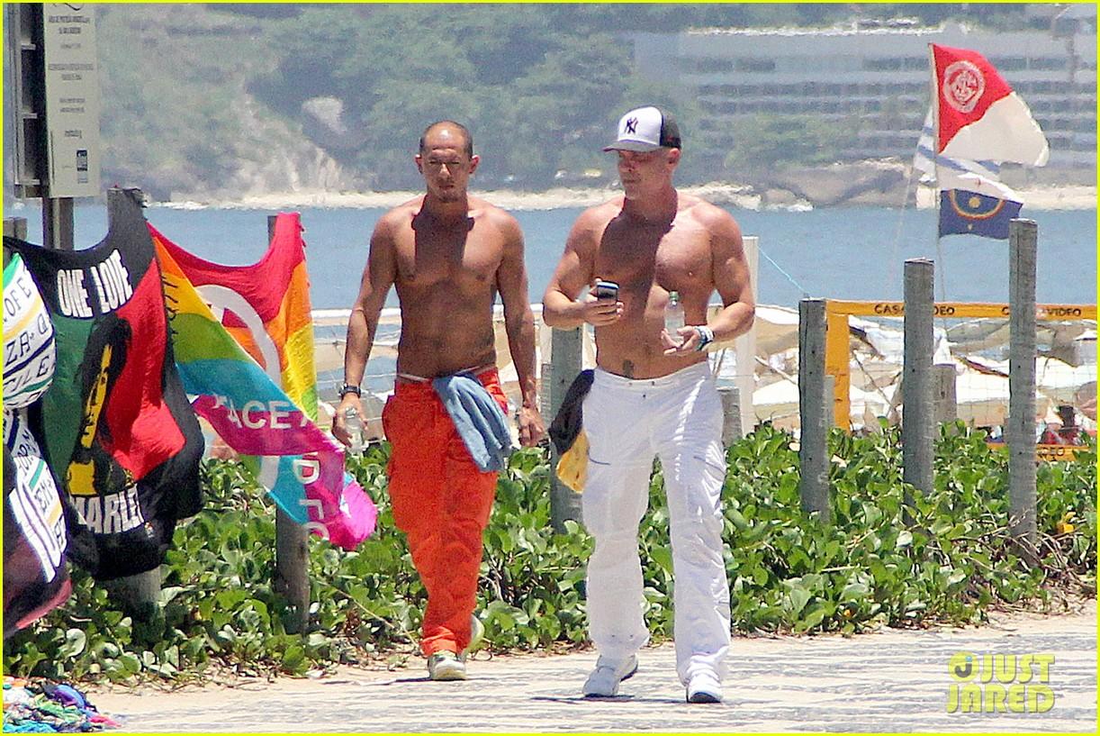 gma sam champion continues shirtless honeymoon 072997438