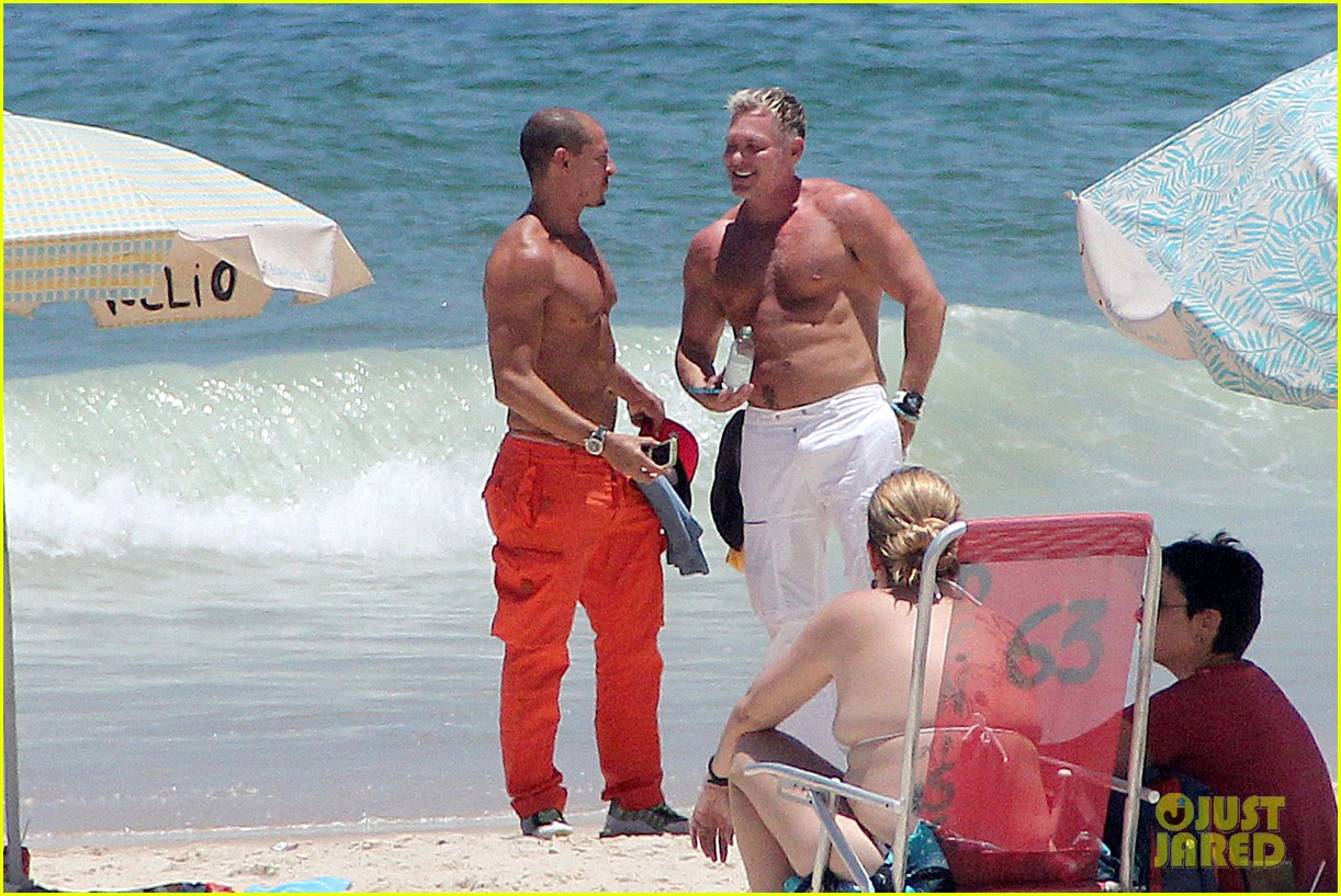 gma sam champion continues shirtless honeymoon 162997447
