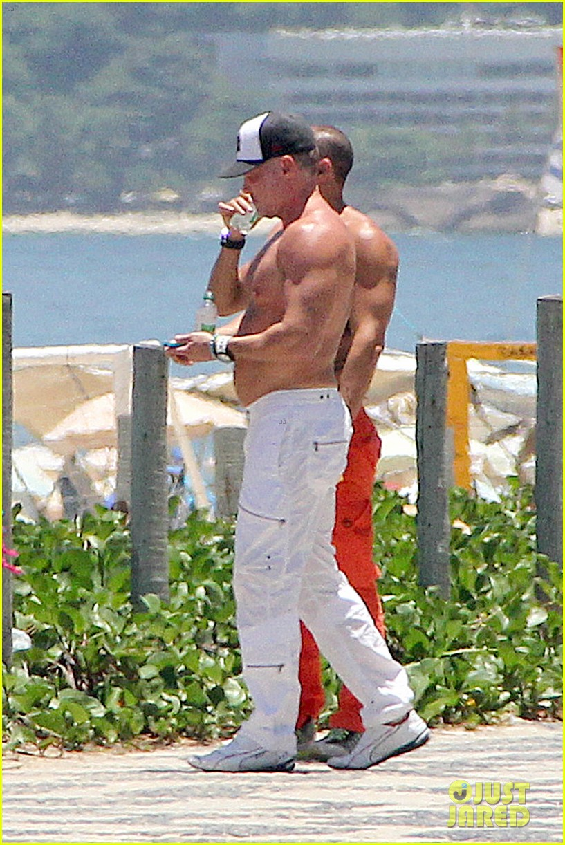 gma sam champion continues shirtless honeymoon 28