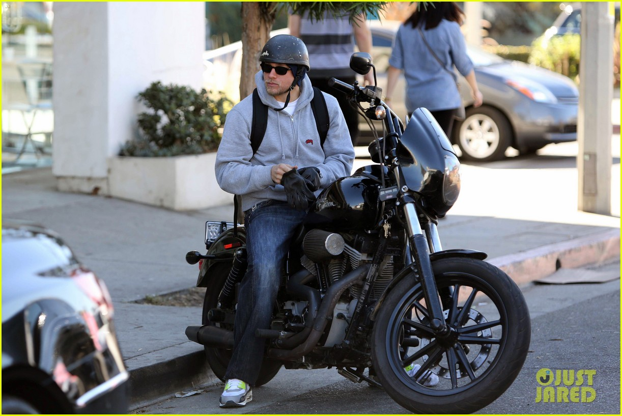 charlie hunnam west hollywood motorcycle man 022985610