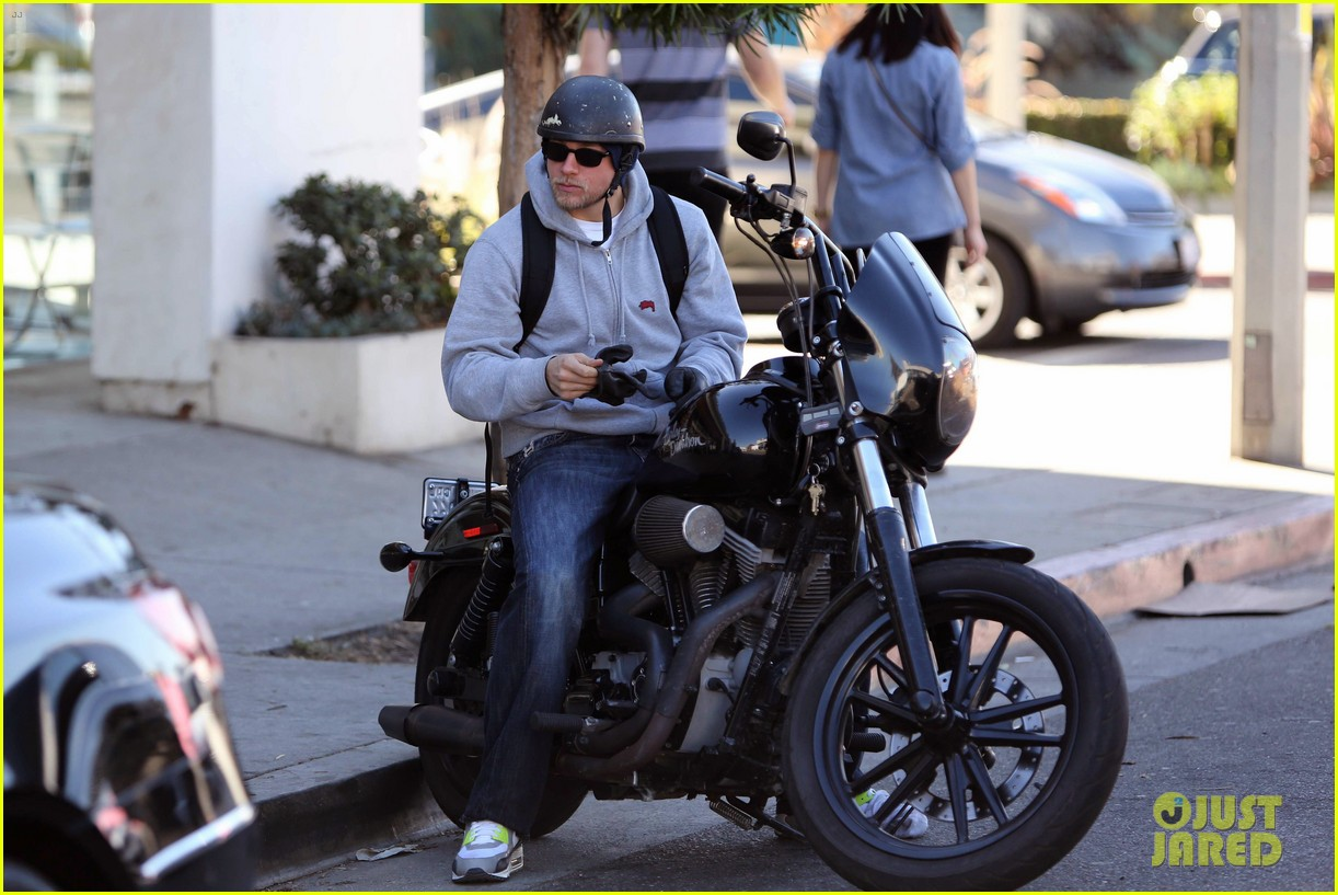 charlie hunnam west hollywood motorcycle man 092985617
