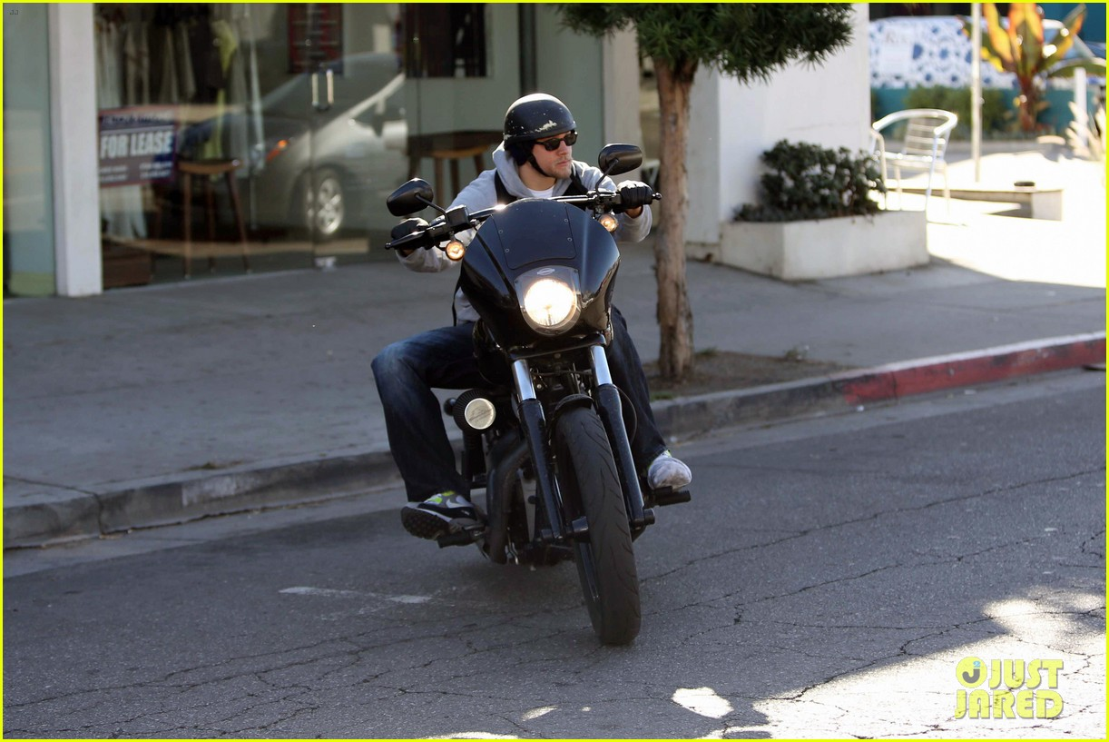 charlie hunnam west hollywood motorcycle man 112985619