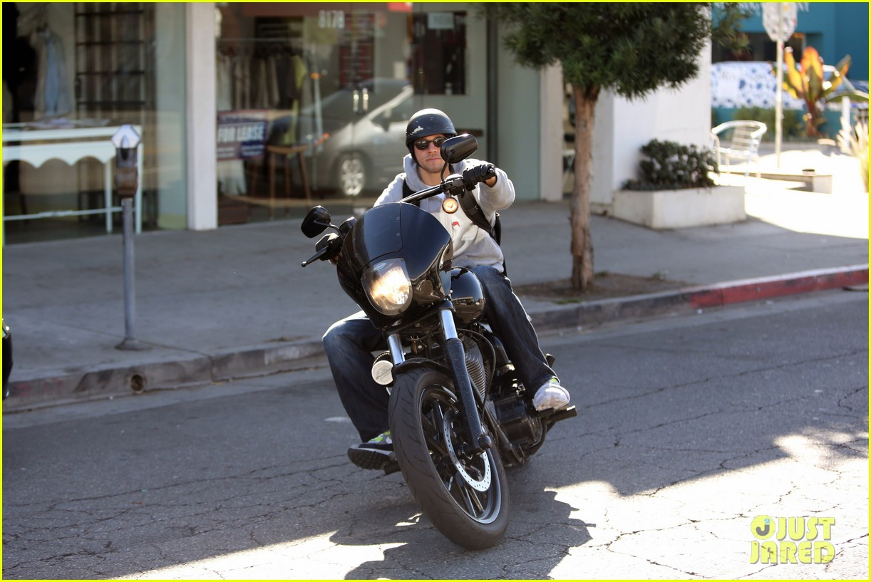 charlie hunnam west hollywood motorcycle man 132985621