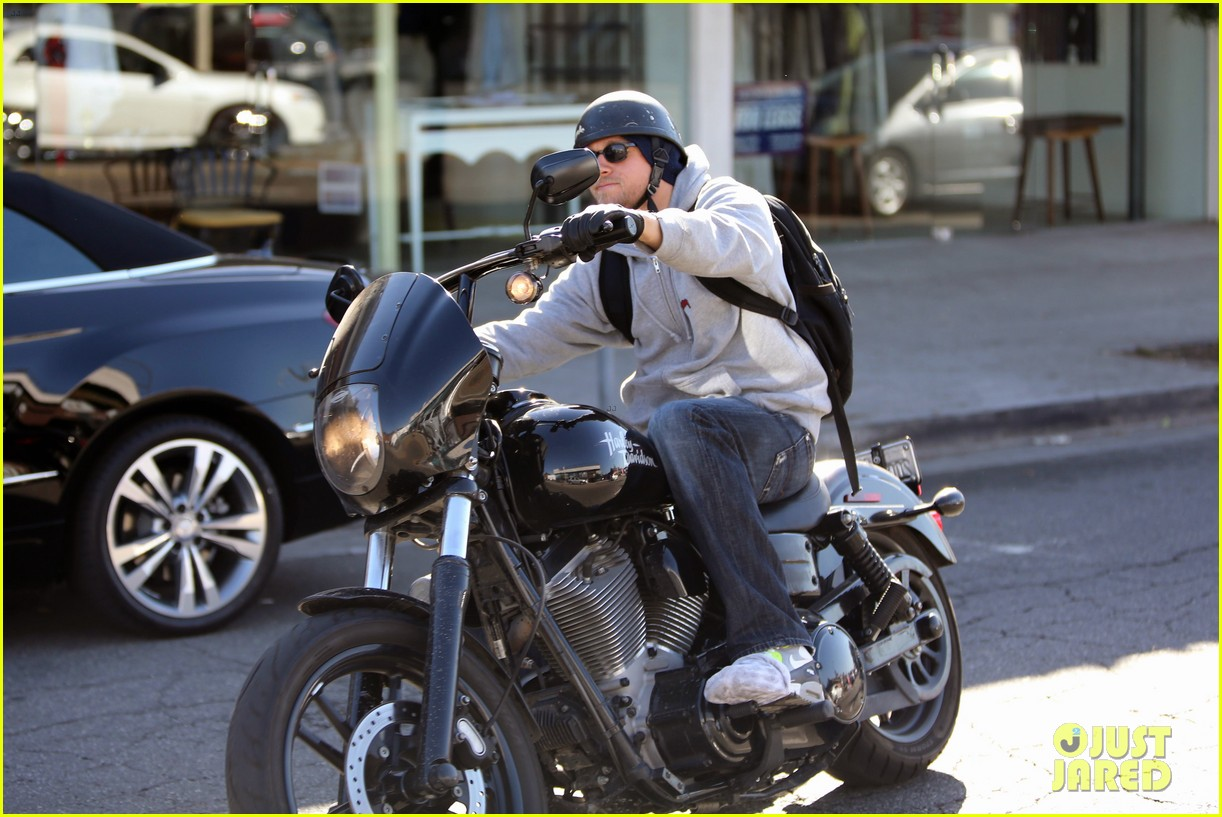 charlie hunnam west hollywood motorcycle man 142985622