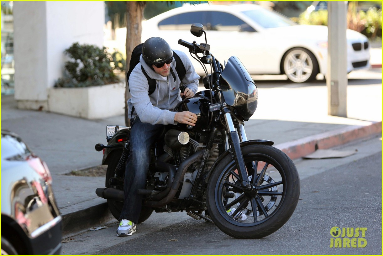 charlie hunnam west hollywood motorcycle man 152985623