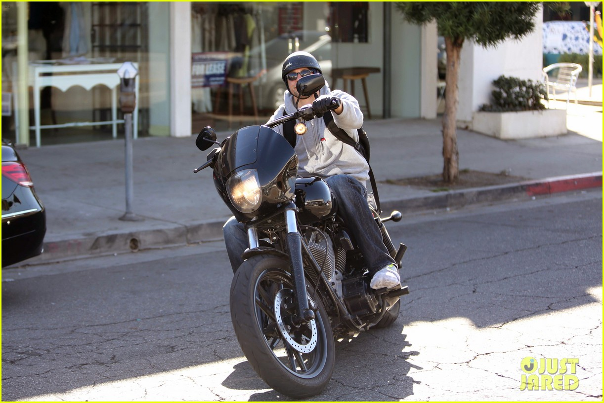 charlie hunnam west hollywood motorcycle man 162985624