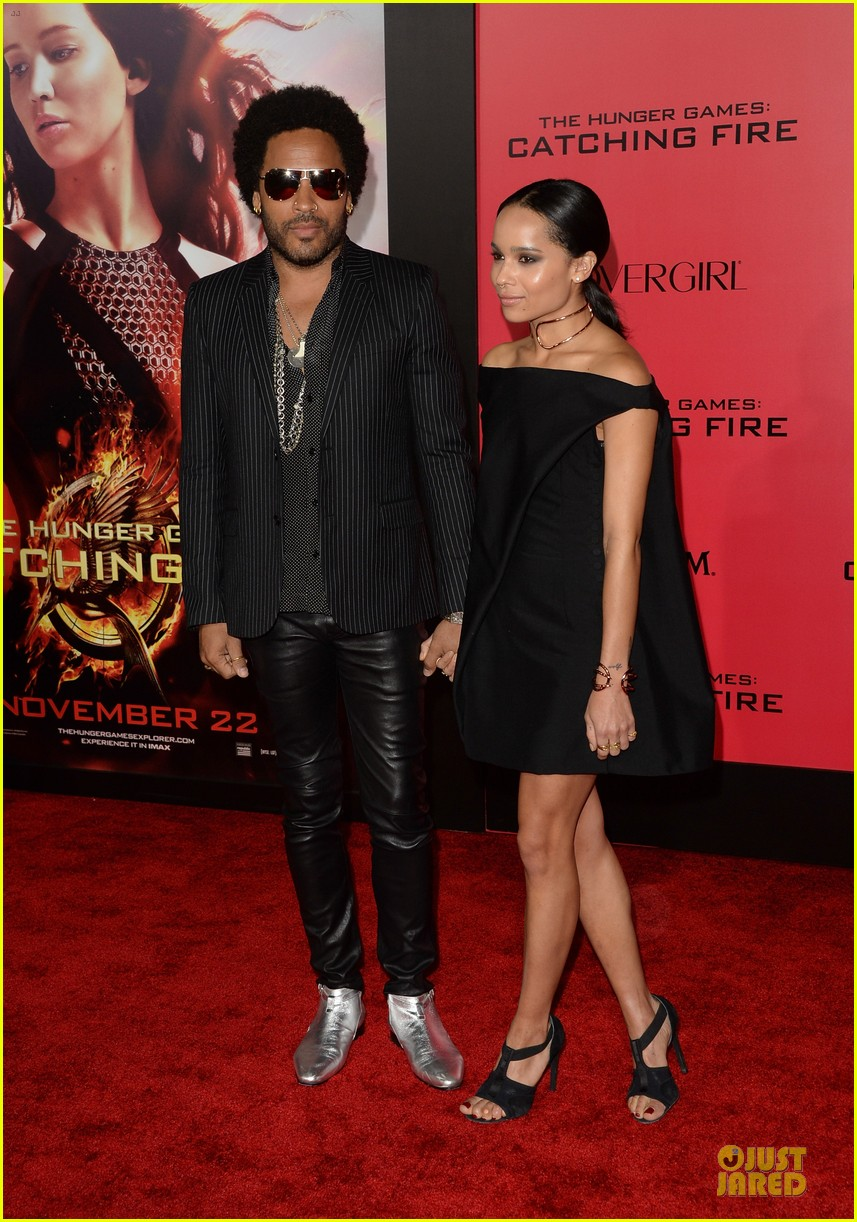 Zoe Kravitz Jennifer Lawrence Friends: Sam Claflin & Zoe Kravitz: 'Catching Fire' L.A. Premiere