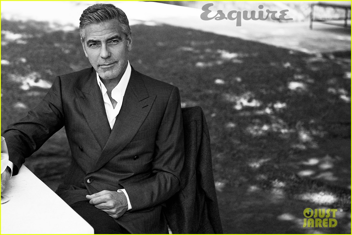 george clooney talks fame twitter brad pitt with esquire 04