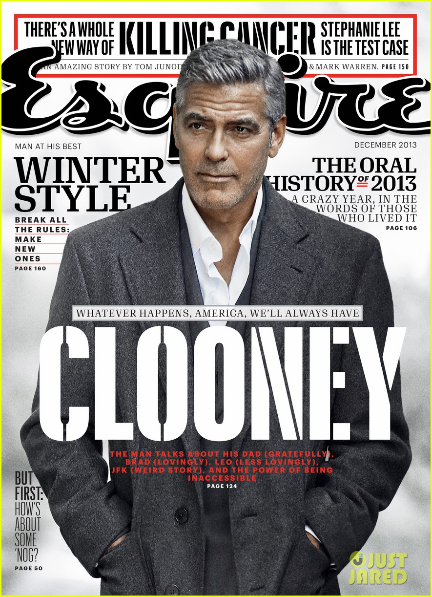 george clooney talks fame twitter brad pitt with esquire 052990312