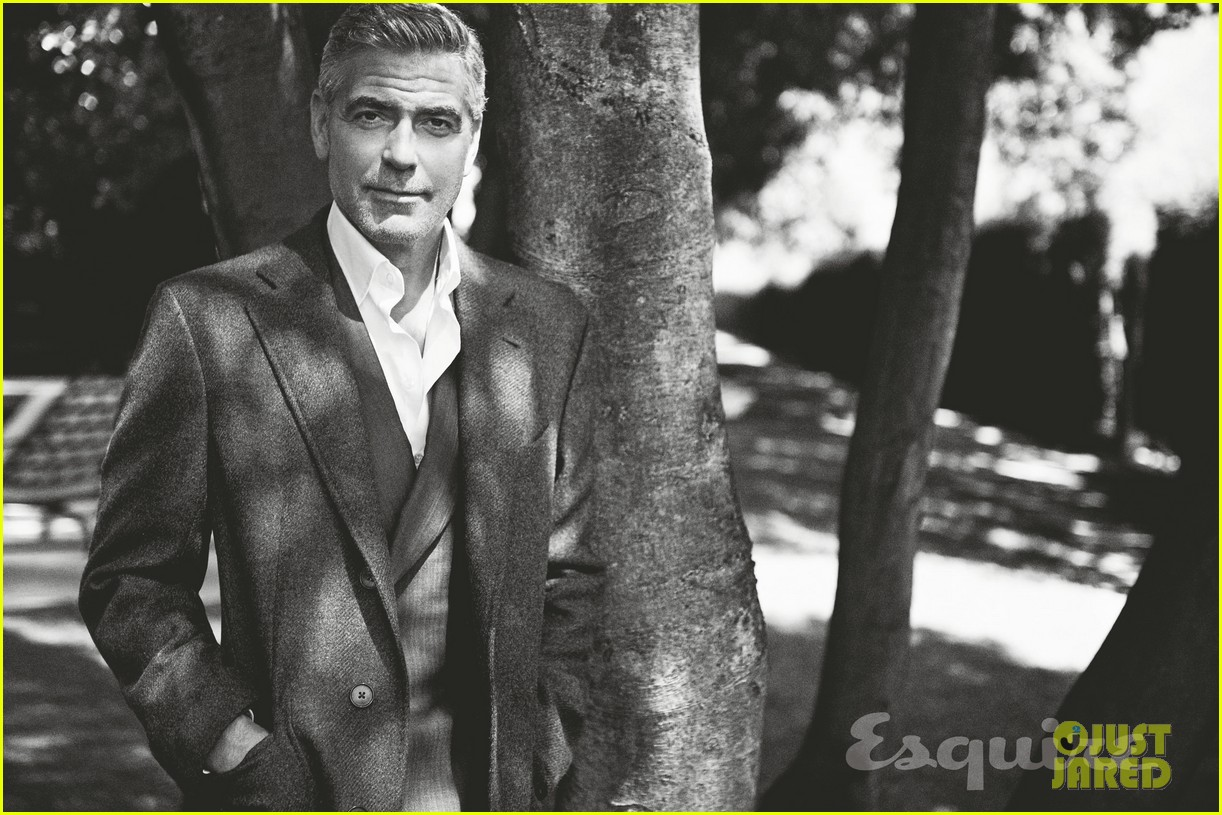 george clooney talks fame twitter brad pitt with esquire 072990314