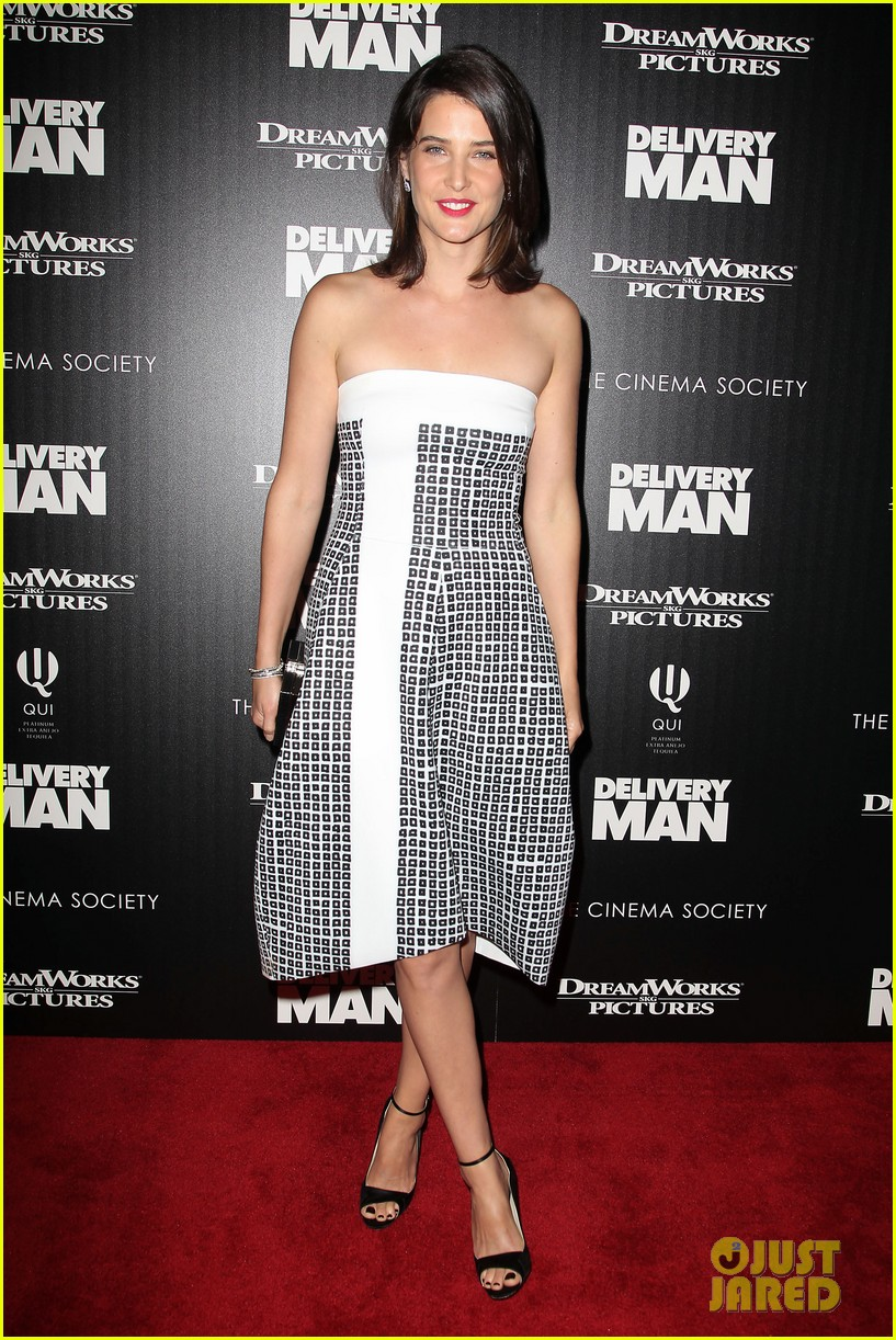 cobie smulders delivery man premiere with vince vaughn 052995134