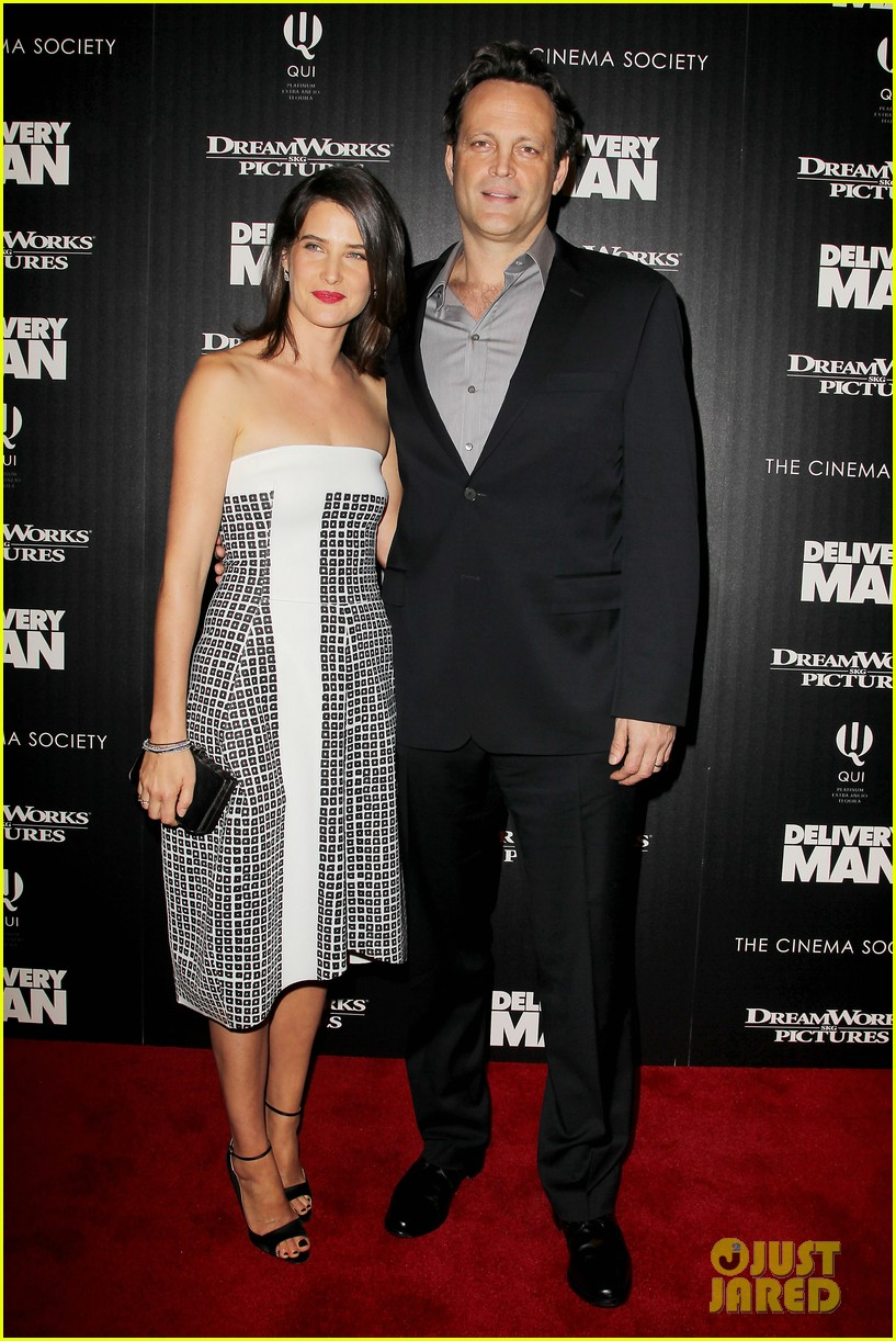 cobie smulders delivery man premiere with vince vaughn 092995138