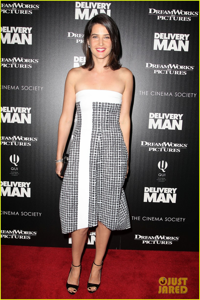 cobie smulders delivery man premiere with vince vaughn 102995139