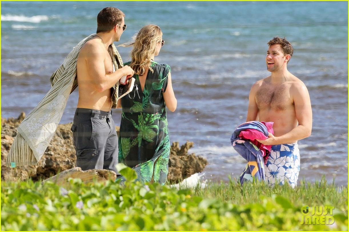 bradley cooper shirtless with john krasinski pregnant bikini clad emily blunt 052996545