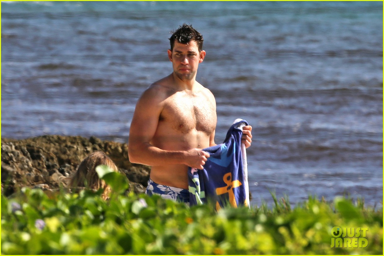 bradley cooper shirtless with john krasinski pregnant bikini clad emily blunt 092996549