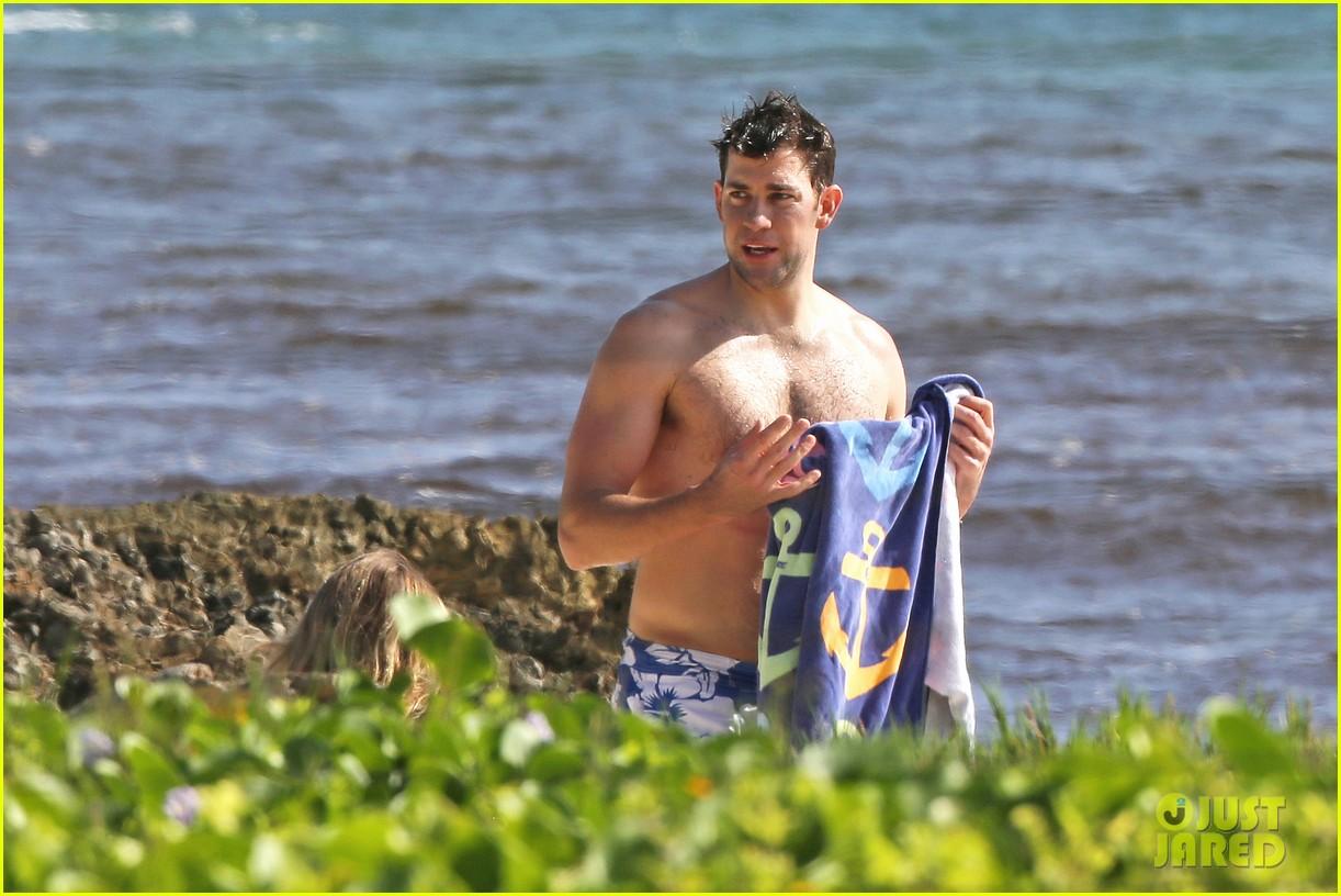 bradley cooper shirtless with john krasinski pregnant bikini clad emily blunt 232996563