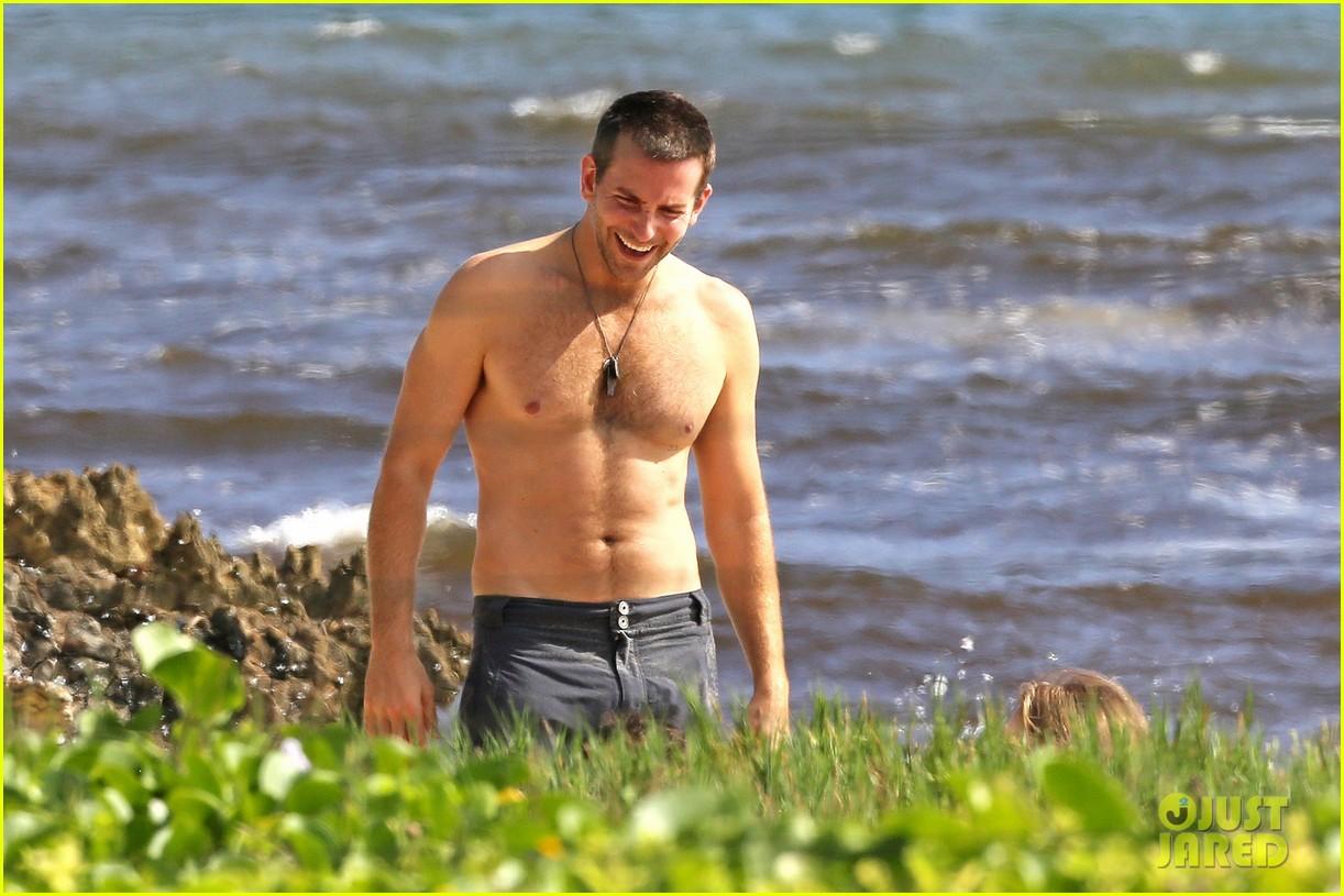 bradley cooper shirtless with john krasinski pregnant bikini clad emily blunt 302996570
