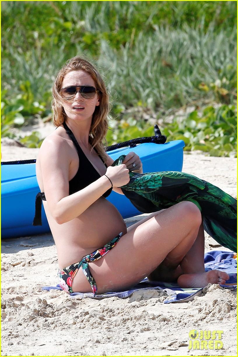 bradley cooper shirtless with john krasinski pregnant bikini clad emily blunt 352996575