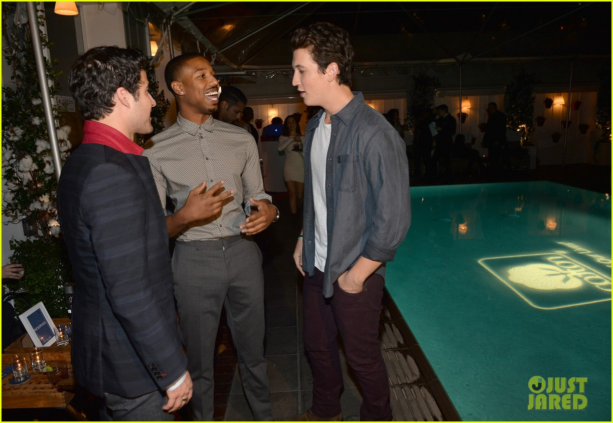 darren criss michael b jordan blue jeans go green party 222987404