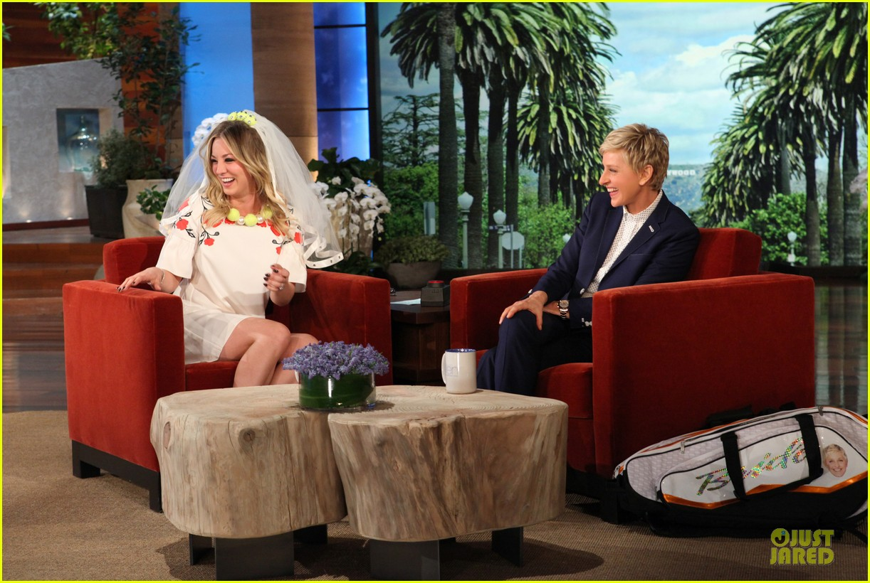 kaley cuoco fake wedding to ryan sweeting on ellen 022987366