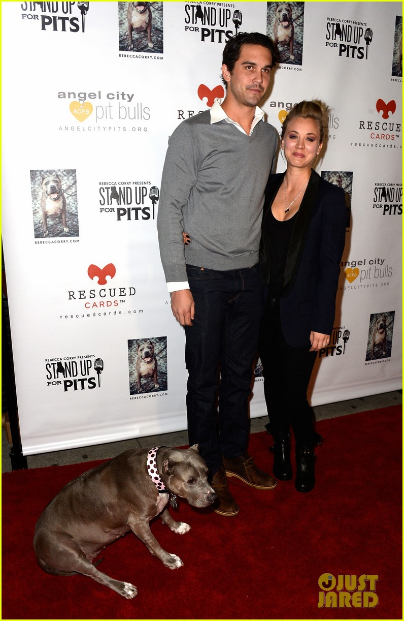 kaley cuoco ryan sweeting stand up for pits 032985946