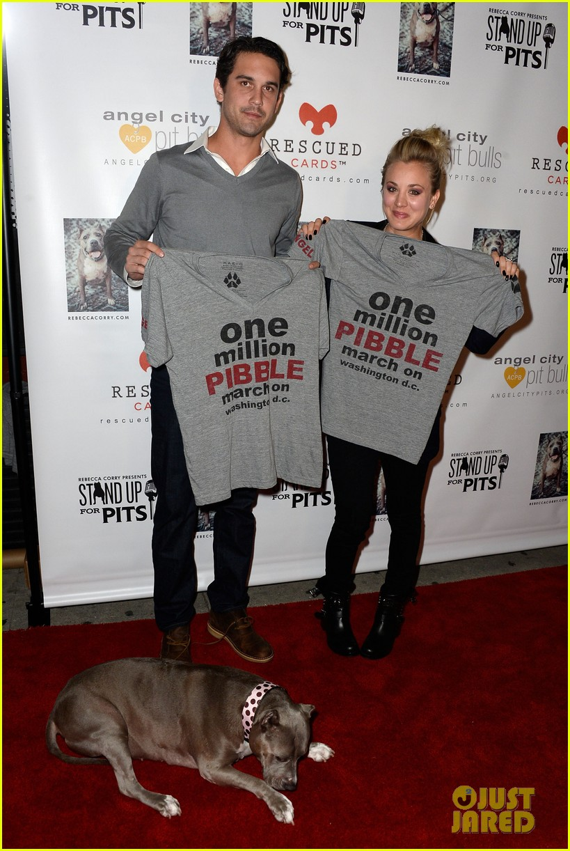 kaley cuoco ryan sweeting stand up for pits 142985957