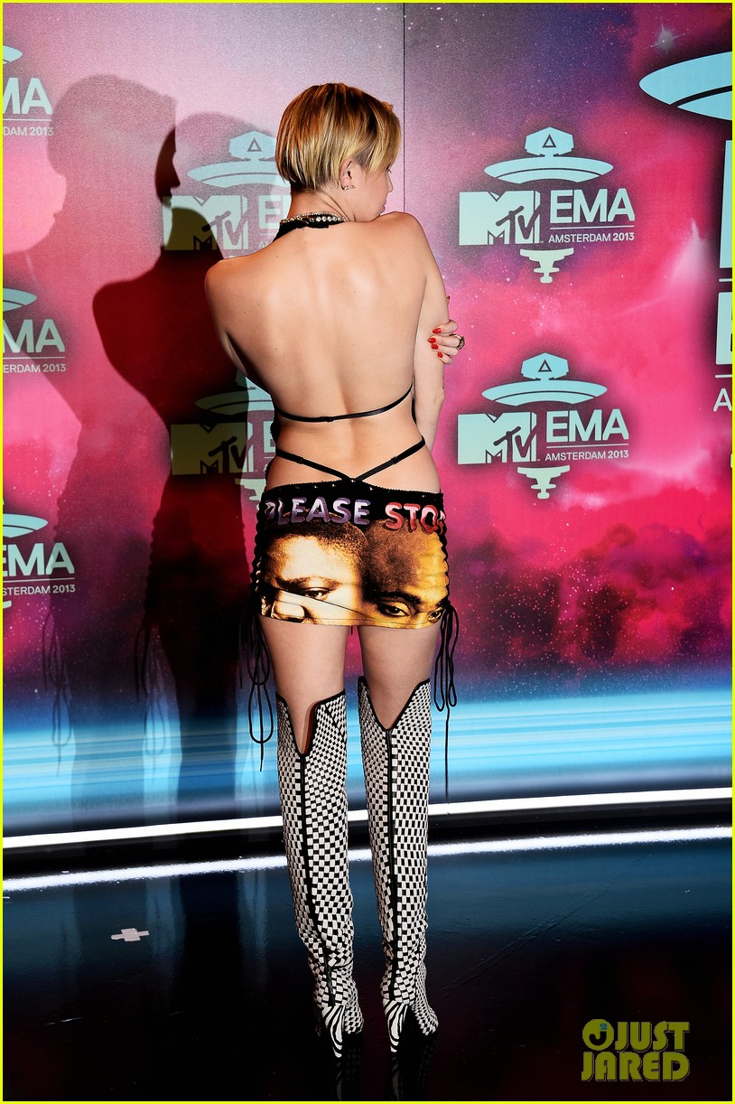 miley cyrus please stop violence dress at mtv ema 2013 222989808