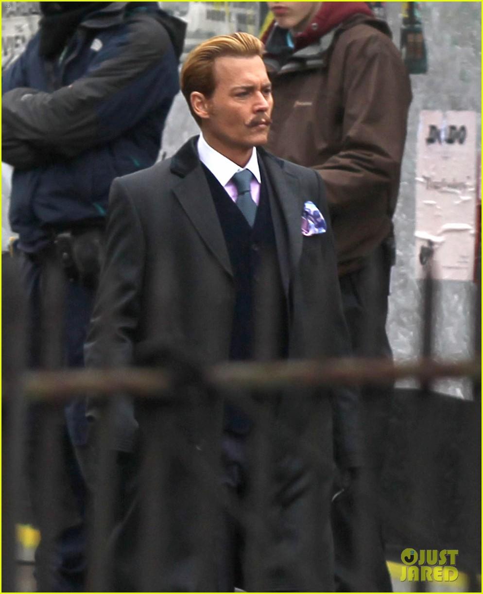 johnny depp begins filming mortdecai in london 122990243
