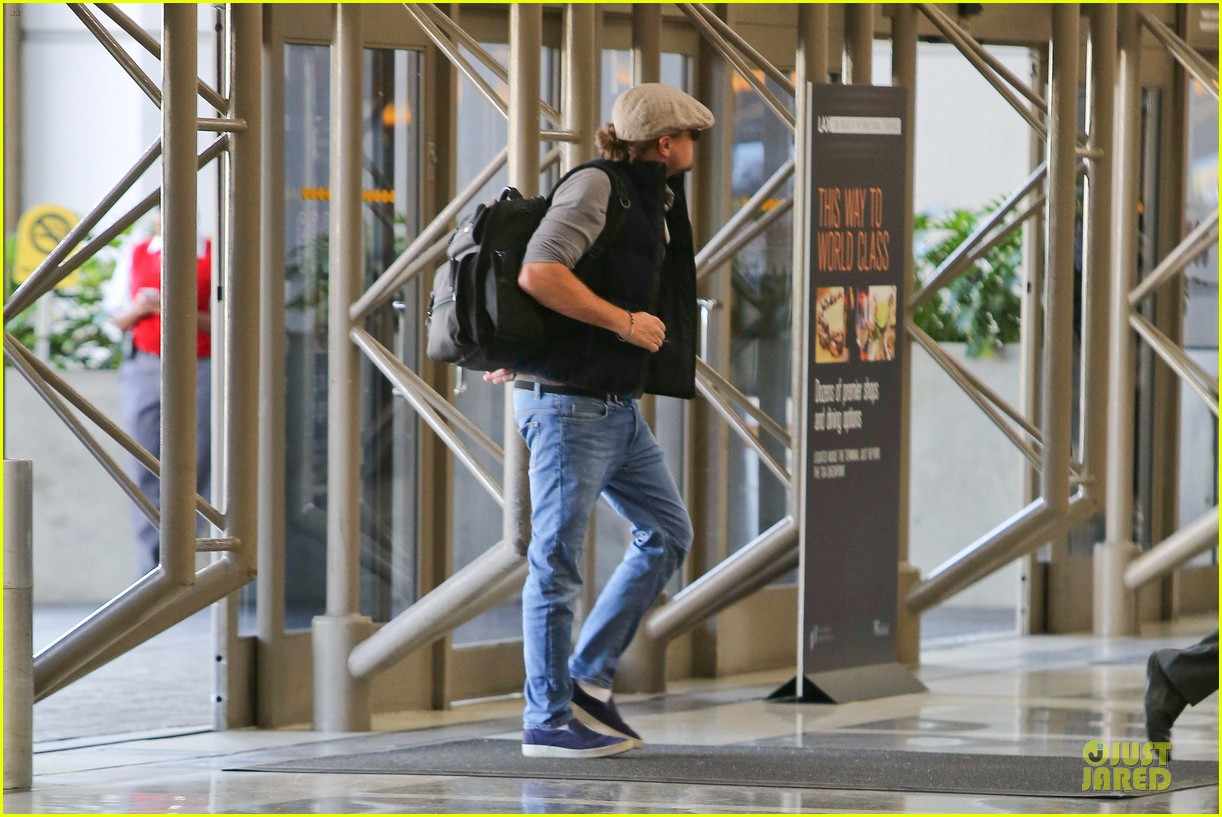 leonardo dicaprio lax departure after lacma art film gala 162986130