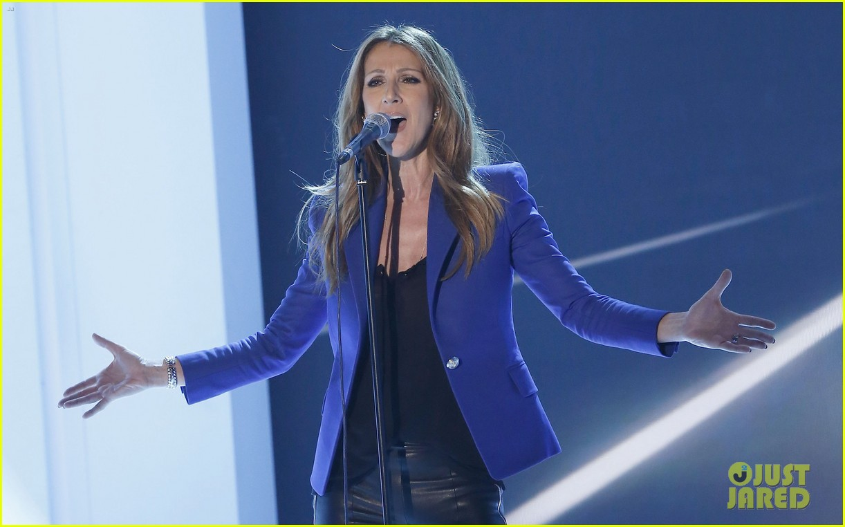 celine dion promotes loved me back to life in france 082992666