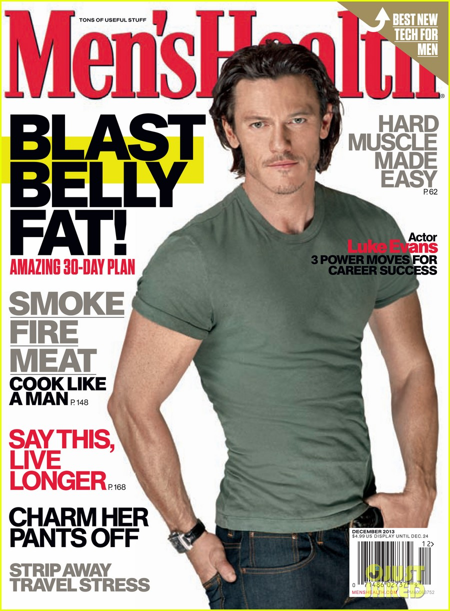 luke evans covers mens health december 2013 012991063