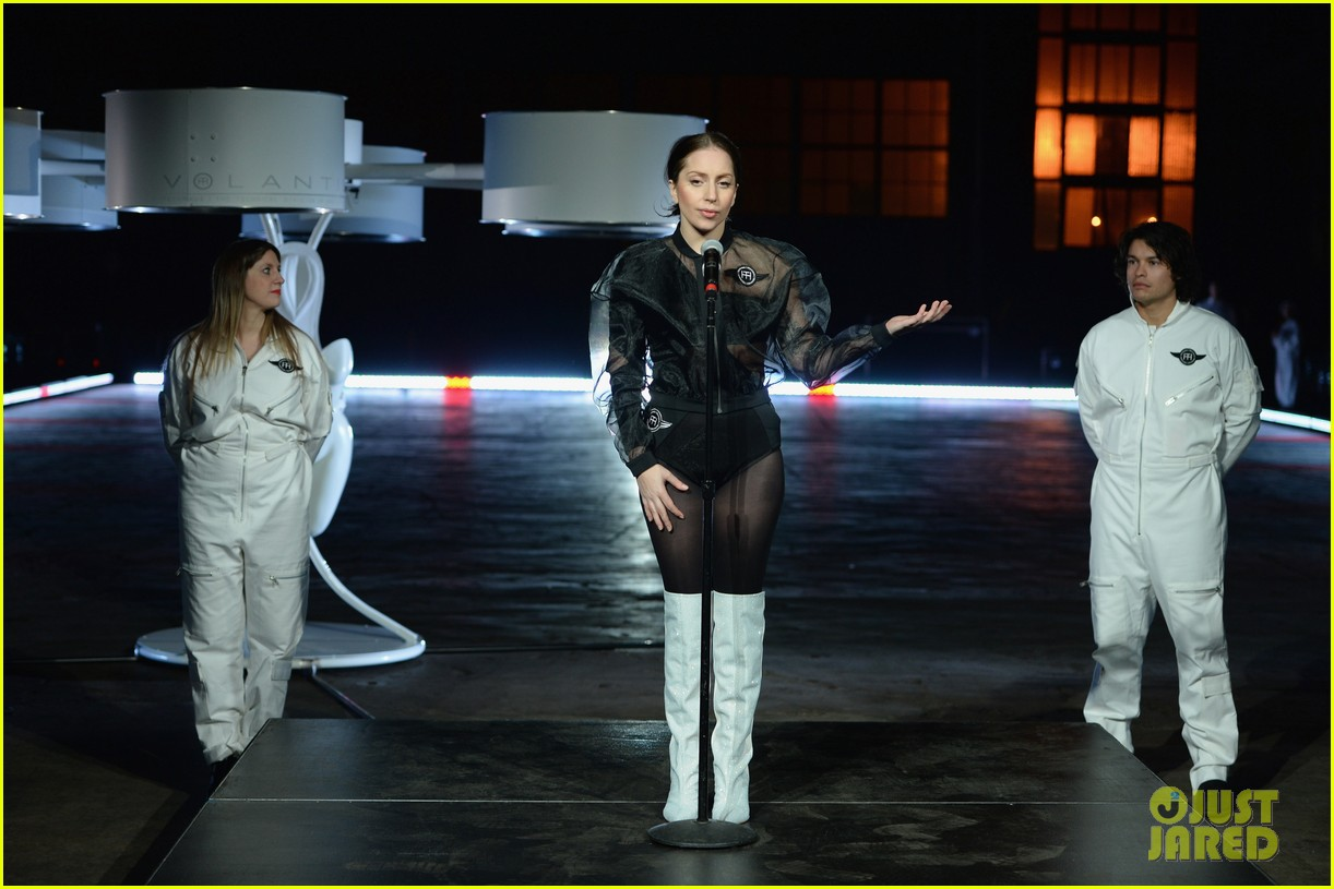 lady gaga debuts flying dress at artrage listening party 162990018