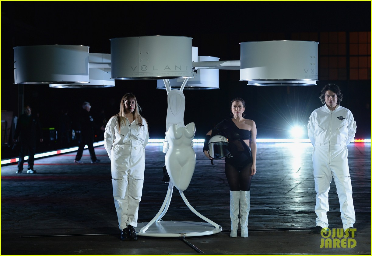 lady gaga debuts flying dress at artrage listening party 192990021