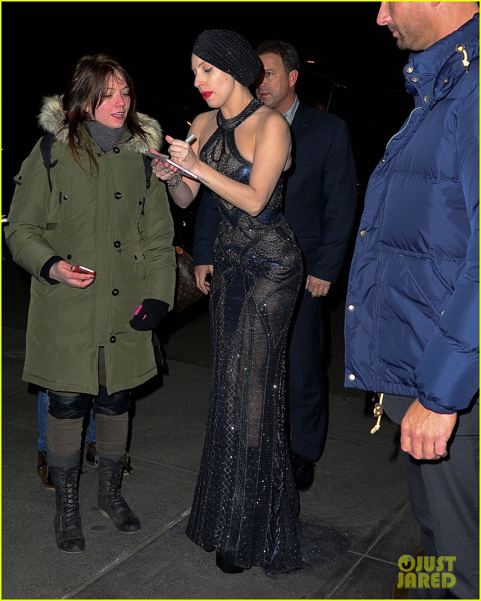 lady gaga greets fans after saturday night live rehearsals 052991377
