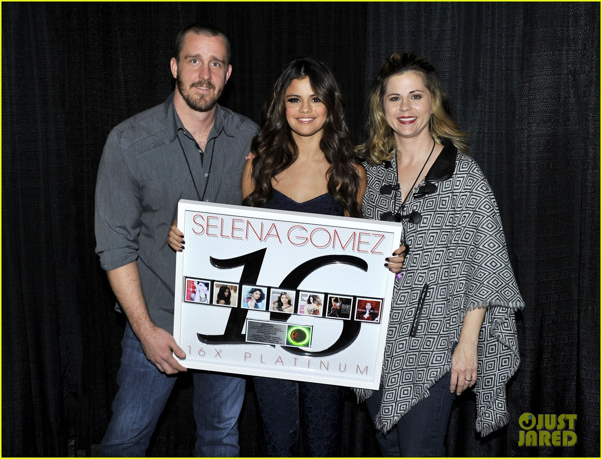 selena gomez platinum plaque before los angeles concert 182987501