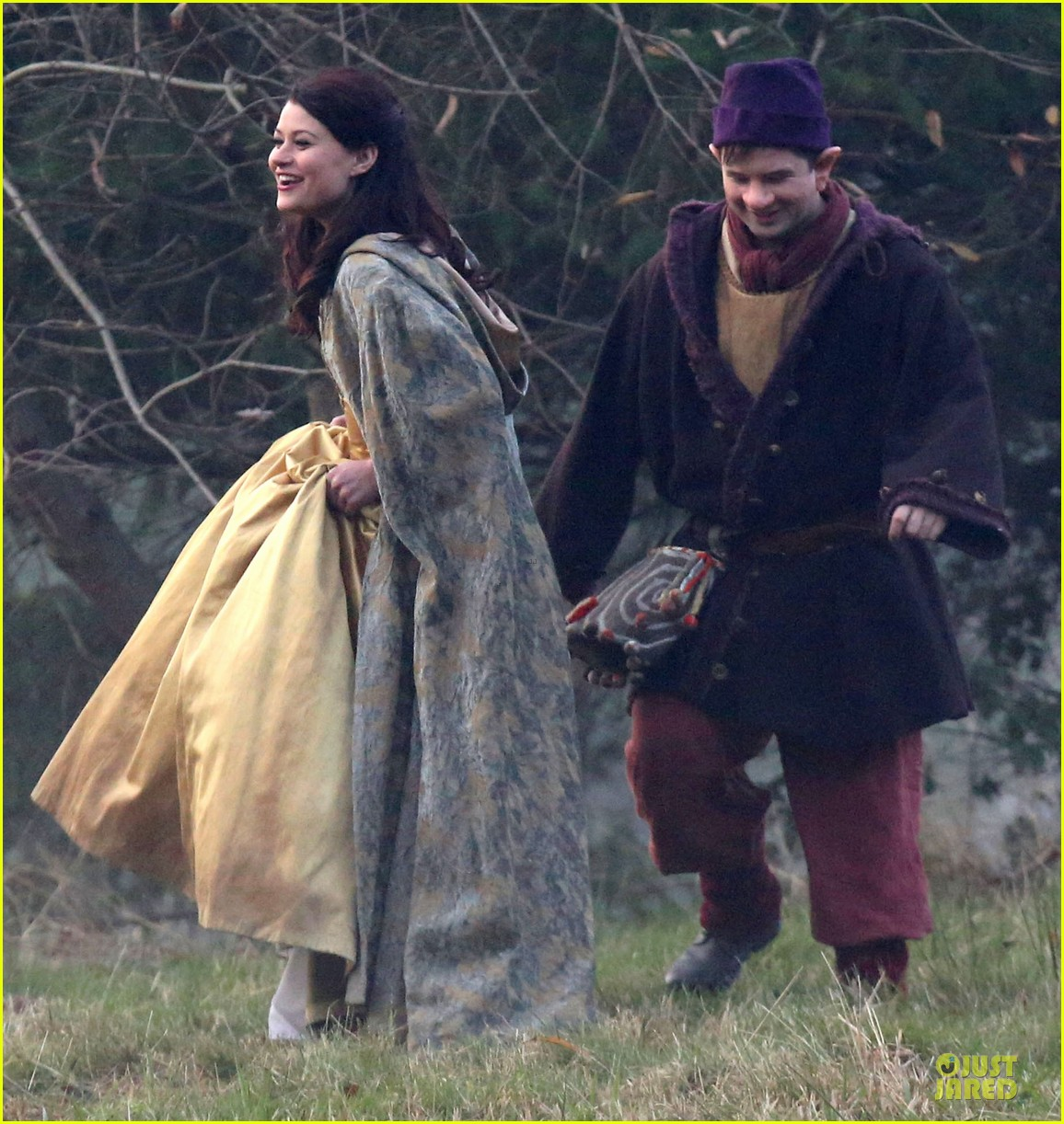 ginnifer goodwin covers baby bump on once set 203000401