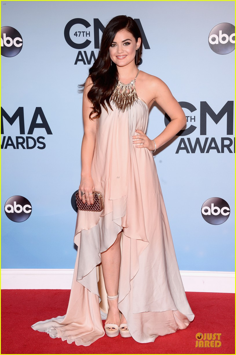 lucy hale colbie caillat cma awards 2013 red carpet 062987230