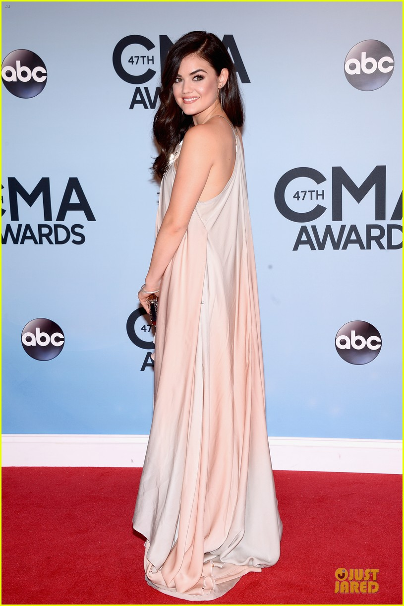lucy hale colbie caillat cma awards 2013 red carpet 072987231