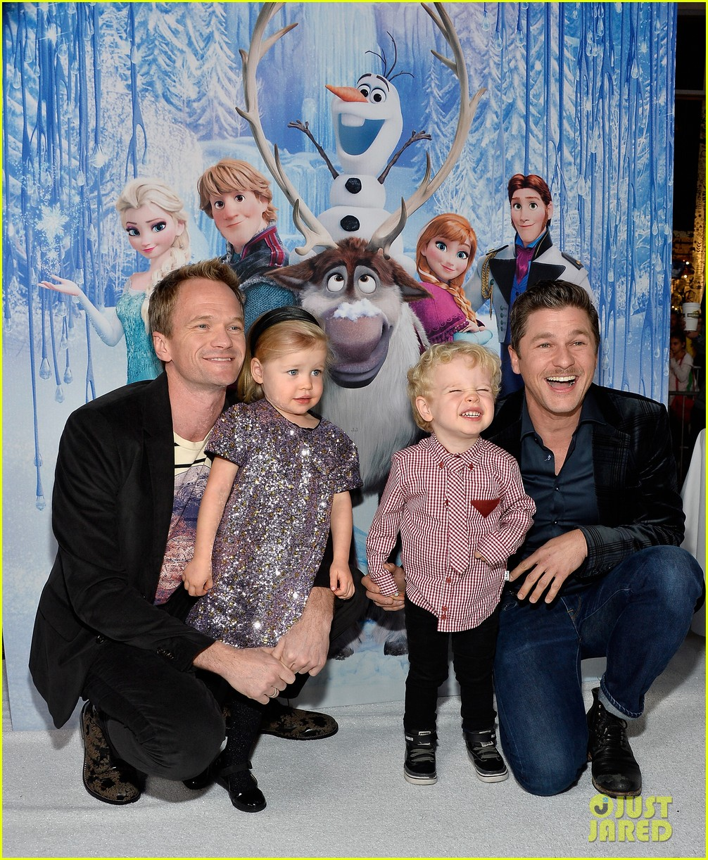 neil patrick harris frozen premiere with the family 132996447