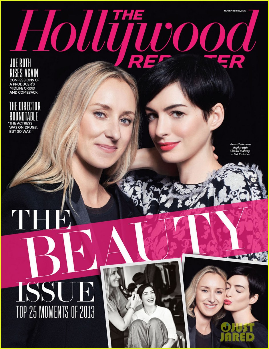 anne hathaway covers thr beauty issue 05