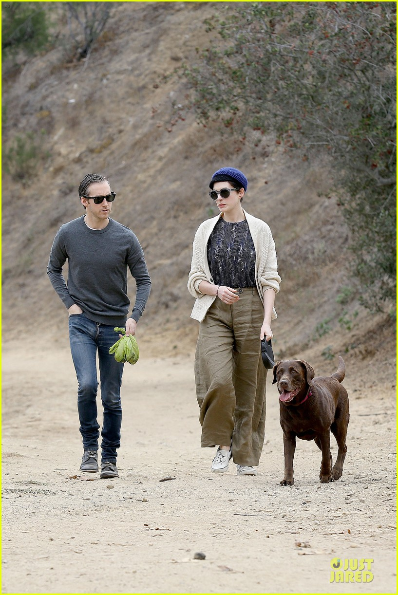 anne hathaway adam shulman hold hands for intimate walk 052994273