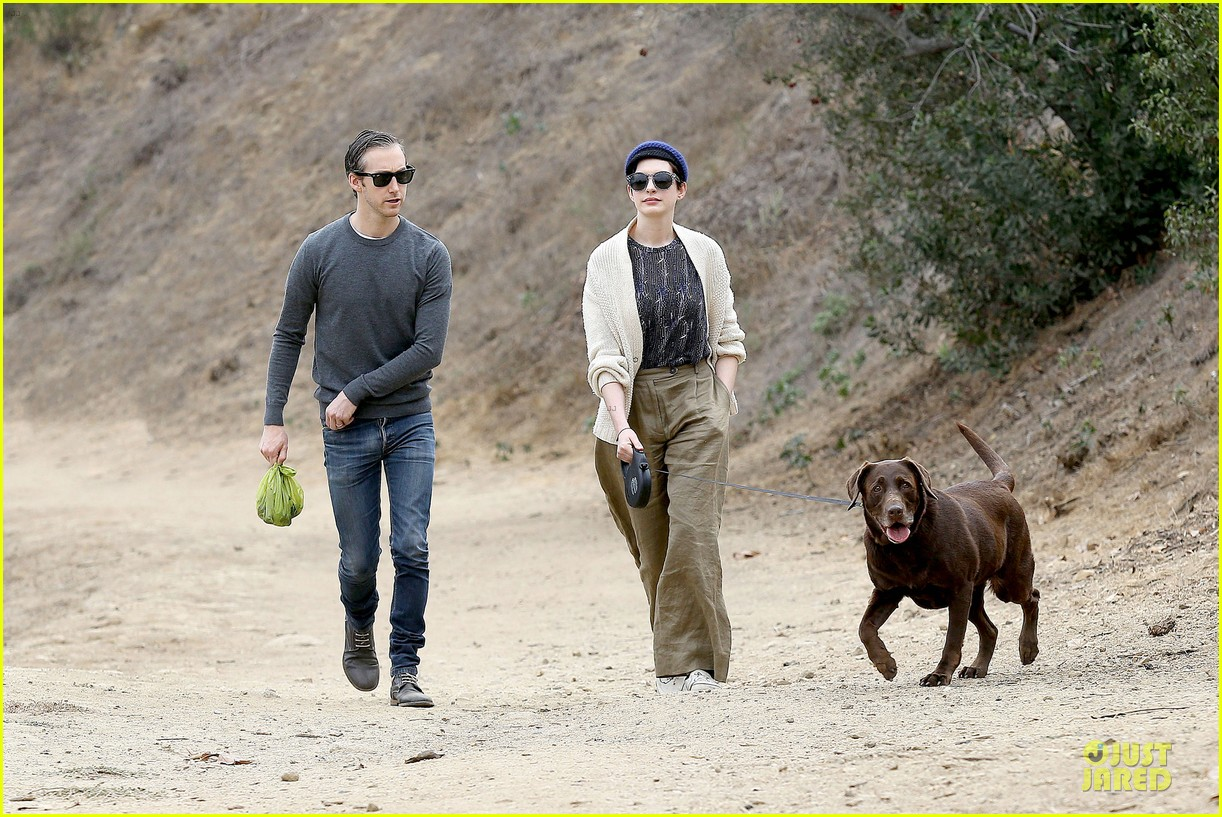 anne hathaway adam shulman hold hands for intimate walk 062994274