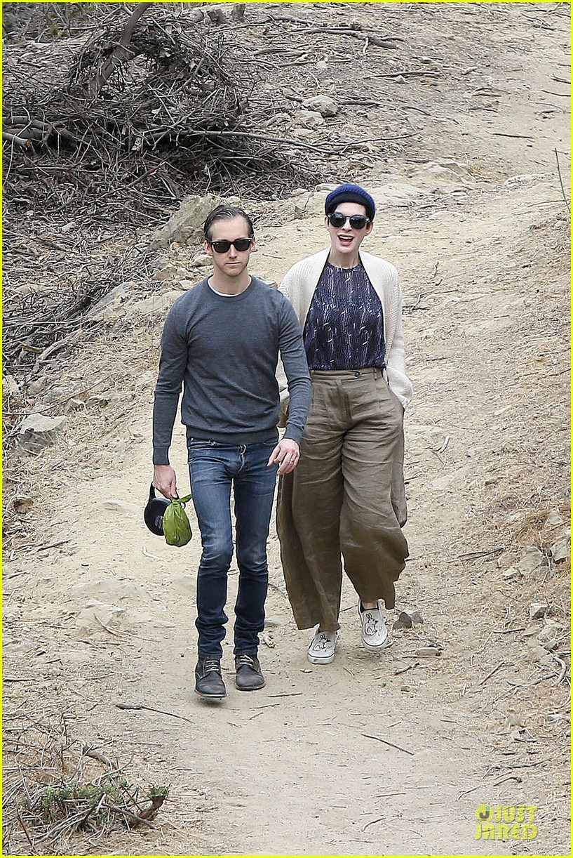 anne hathaway adam shulman hold hands for intimate walk 072994275