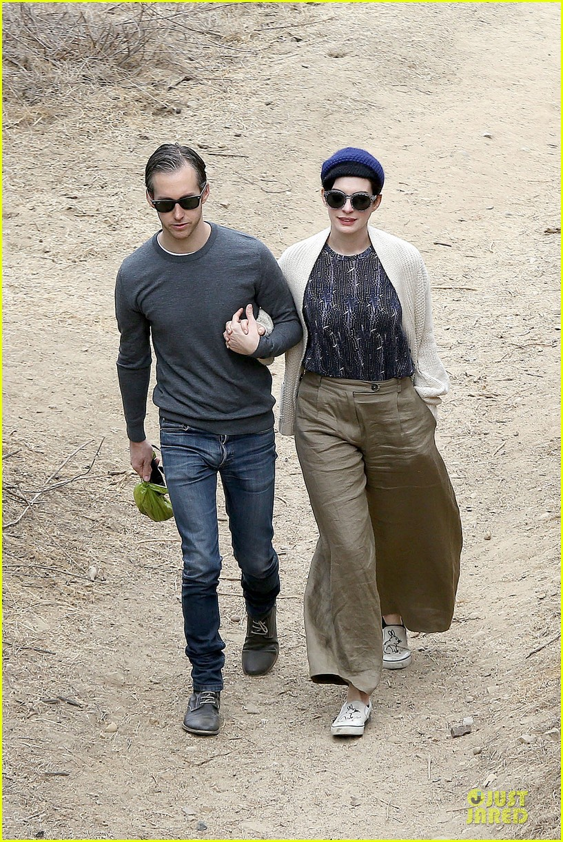 anne hathaway adam shulman hold hands for intimate walk 082994276