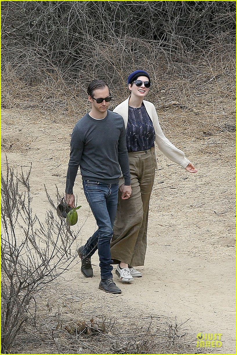 anne hathaway adam shulman hold hands for intimate walk 092994277