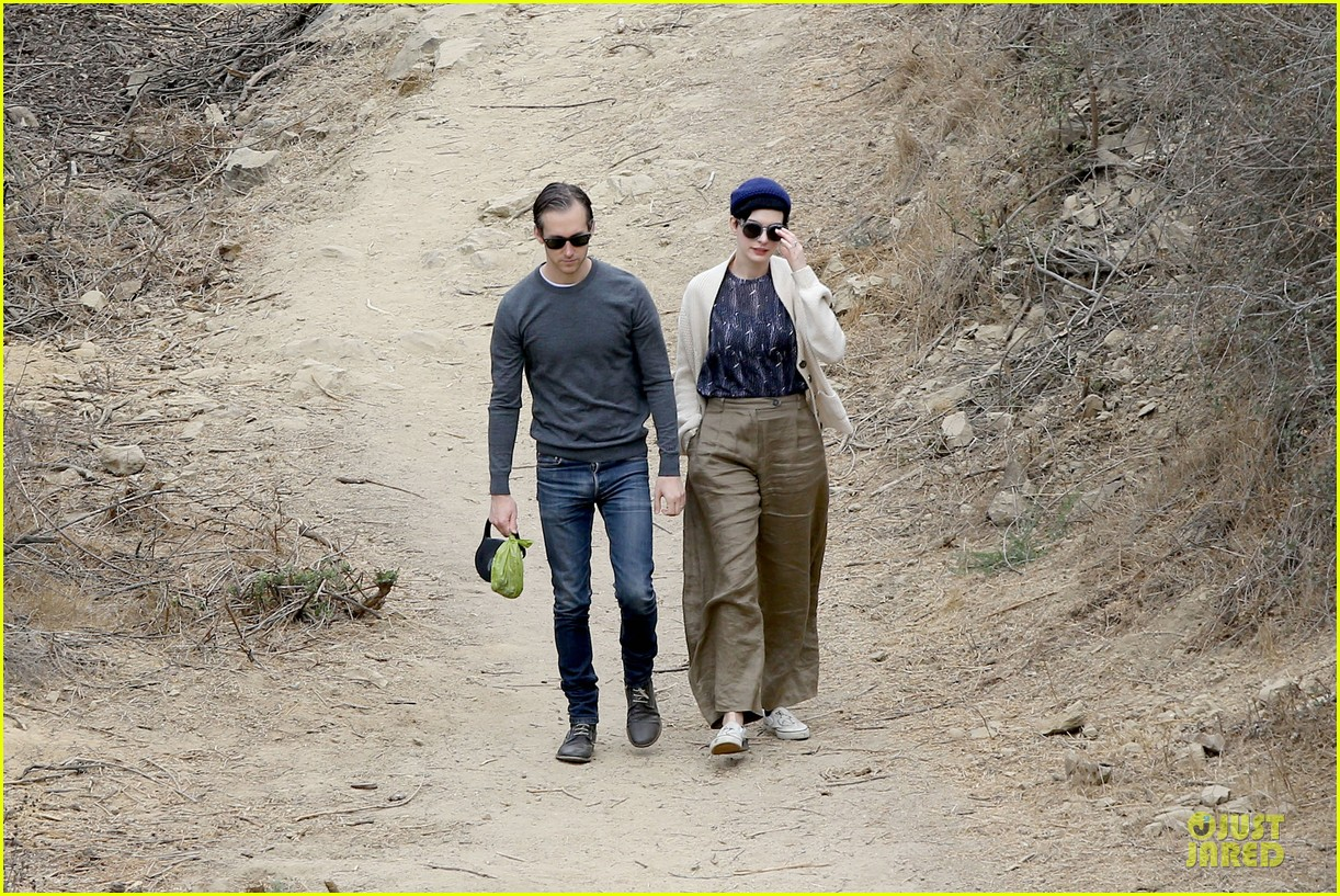anne hathaway adam shulman hold hands for intimate walk 102994278