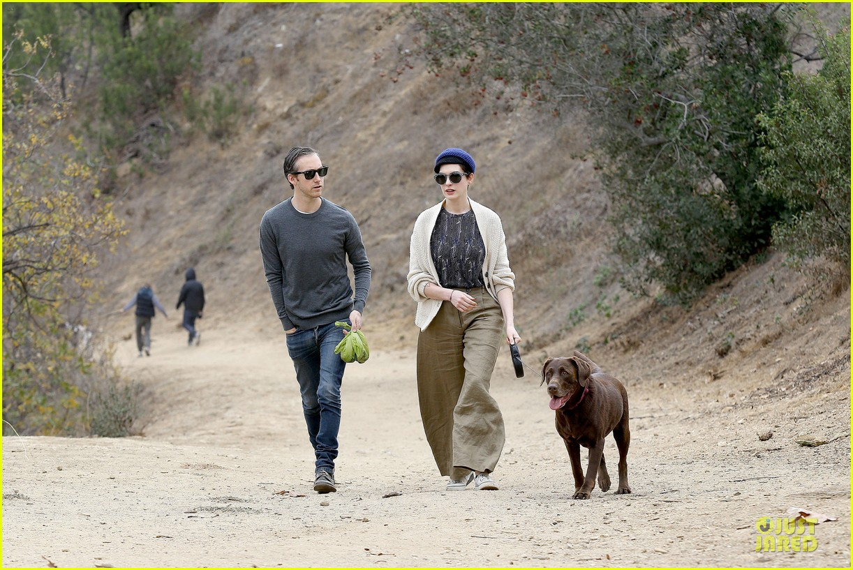 anne hathaway adam shulman hold hands for intimate walk 142994282