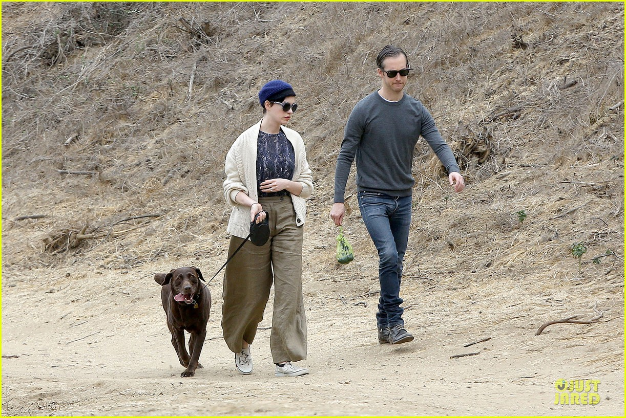 anne hathaway adam shulman hold hands for intimate walk 212994289