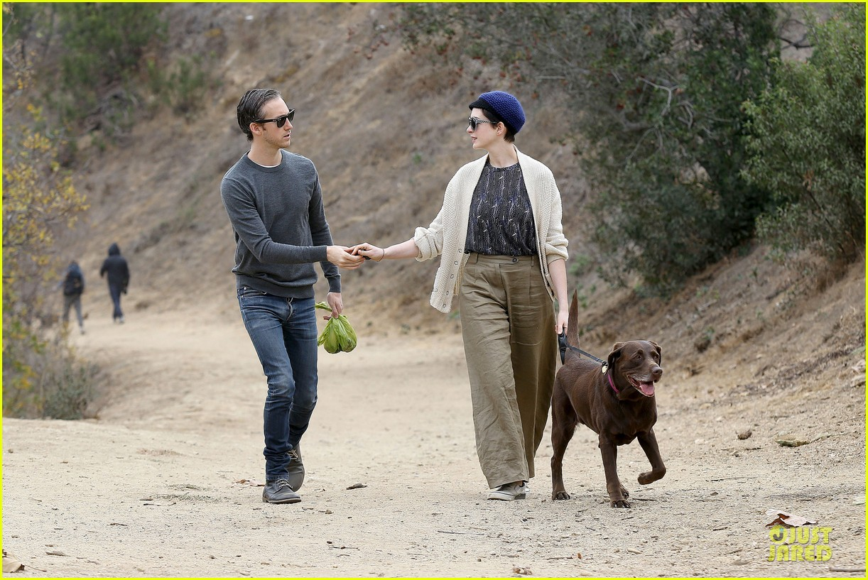 anne hathaway adam shulman hold hands for intimate walk 302994298