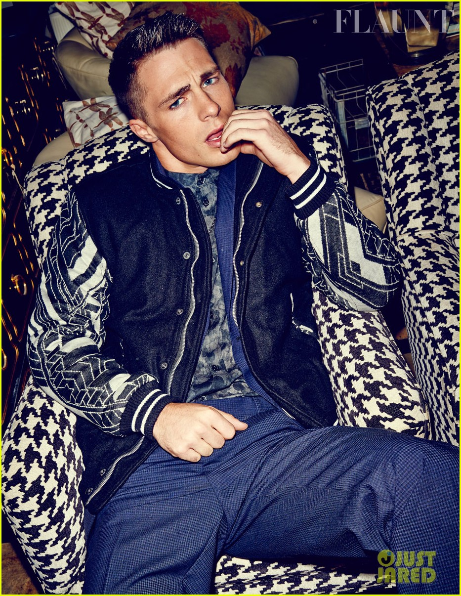 colton haynes flexes his muscles for flaunt feature 042991818
